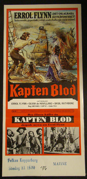 CAPTAIN BLOOD (ERROL FLYNN, OLIVIA DE HAVILLAND)