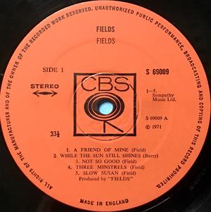 """FIELDS - """"same"""" UK-orig LP 1971"""