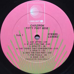 FIFTY FOOT HOSE - Cauldron US-orig LP 1969