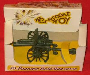 CRESCENT TOYS 18-POUNDS FÄLTKANON (1914-18) I ASK