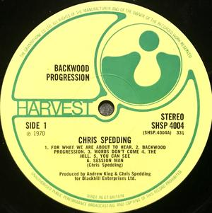 CHRIS SPEDDING - Backwood progression UK-orig LP 1970