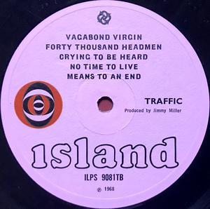 """TRAFFIC - """"same"""" UK-orig LP 1968"""