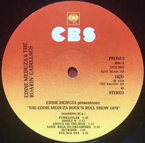 "EDDIE MEDUZA & ROARIN´ CADILLACS - Rock´n´roll show 1979 PROMO 12""/LP"