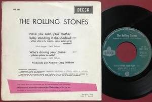 ROLLING STONES - Have you seen your mother.. Spansk PS 1966