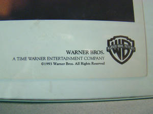 WESLEY SNIPES DEMOLITION MAN AUTOGRAF - WARNER BROS 1993