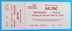 AC/DC - Stockholm 1986