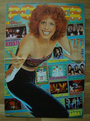 TIDNINGEN POSTER - No 8 1976  ABBA, KISS, Uriah Heep,  mfl.