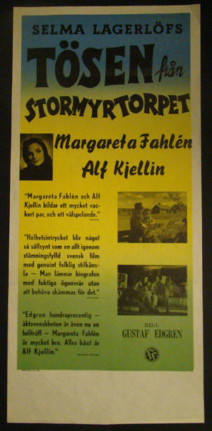 TÖSEN FRÅN STORMYRTORPET (SELMA LAGERLÖF)