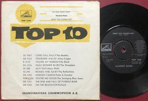 MANFRED MANN - Do wah diddy diddy Swe GUL PS 1964