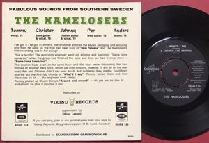 NAMELOSERS - New Orleans +3 Swe EP 1965