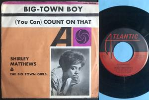 SHIRLEY MATTHEWS - Big-town boy Swe PS 1964