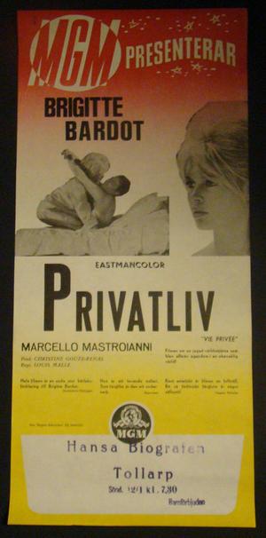 """""""VIE PRIVEE""""  (BRIGITTE BARDOT)"""