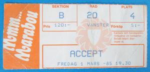 ACCEPT - Stockholm 1985