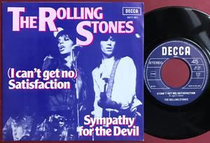 ROLLING STONES - Satisfaction / Sympathy for the devil Holland PS 1980