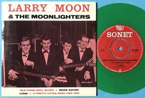 LARRY MOON & the MOONLIGHTERS - Old piano roll blues +3 Swe EP 1965