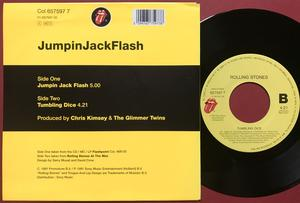 ROLLING STONES - Jumpin Jack Flash / Tumbling dice Holland PS 1991