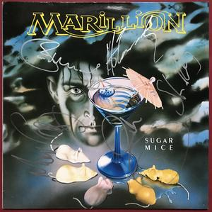 "MARILLION - Sugar mice SIGNERAD Holland-orig 12"" maxi 1987"
