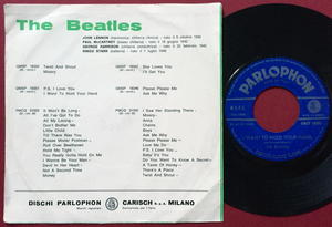 """BEATLES - P.S. I love you/I want to hold your hand 7"""" Italy PS 1963"""