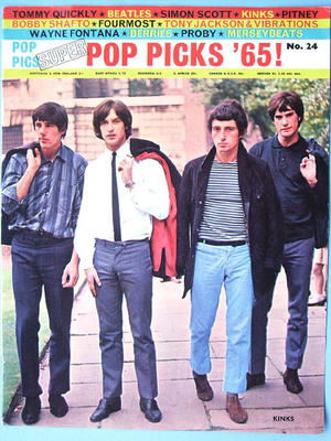 POP PICS SUPER No 24 KINKS-omslag