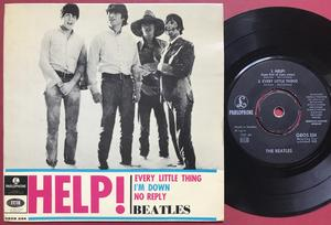BEATLES - Help! + 3 TURKUOISE Swe EP 1965