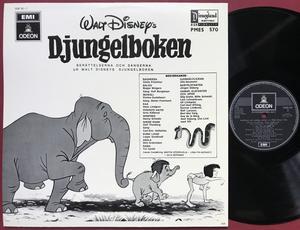WALT DISNEY´S - Djungelboken Swe LP ca 1970