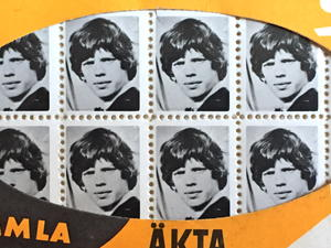 ROLLING STONES - Mick Jagger RARE Photo-stamps Sverige 1964