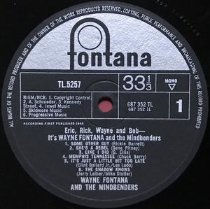 WAYNE FONTANA AND THE MINDBENDERS  - It´s Wayne Fontana.. UK-orig LP 1965