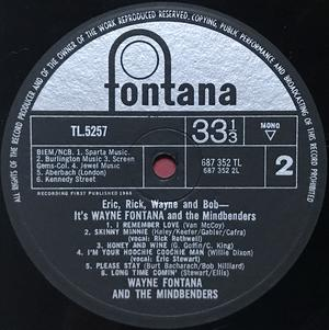 WAYNE FONTANA AND THE MINDBENDERS  - It´s Wayne Fontana.. UK-orig LP 1965