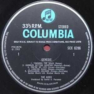 THE GODS - Genesis UK-orig LP 1968