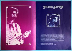 HAWKWIND Zappa JEFF BECK Brinsley Schwarz MAN Sam Apple pie LINDA LEWIS - Rock at the Oval konsertprogram 1972