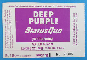 DEEP PURPLE - Oslo 1987