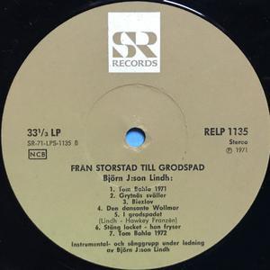 BJÖRN J:SON LINDH - Från storstad till grodspad Swe-orig LP 1971