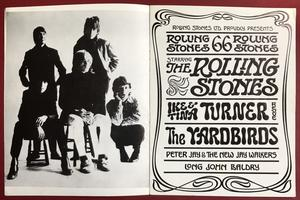 ROLLING STONES Yardbirds - 1966 UK turnéprogram