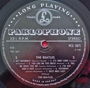 BEATLES - Help! NORSK orig Stereo LP 1965