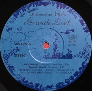 LEVANDE LIVET - Strömmens pärla Swe-orig LP 1975