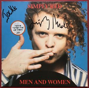 SIMPLY RED - Men and women SIGNERAD LP 1987
