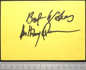 ANTHONY QUINN - Äkta autograf på papper