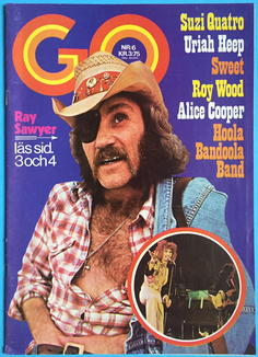 GO magazine - No 6 1974 with SWEET-calendar + URIAH HEEP-POSTER!