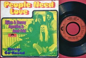 ABBA - People need love german PS 1972