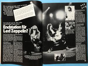 POP - Nr 6 1976 Queen / Status Quo omslag + AFFISCH