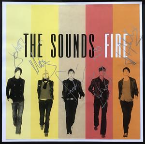 The SOUNDS - Fire SIGNED image 2002