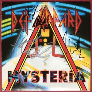 """DEF LEPPARD - Hysteria SIGNED 7"""" 1987"""