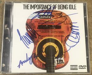 OASIS - The Importance Of Being Idle SIGNERAD DVD-CD omslag 2005