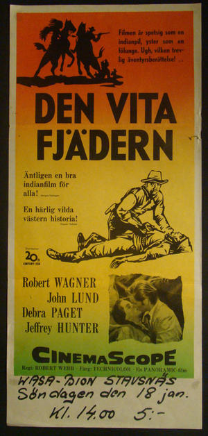 DEN VITA FJÄDERN (ROBERT WAGNER, DEBRA PAGET)