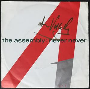 "The ASSEMBLY - Never never SIGNERAD Vince Clarke Swe-orig 7"" 1983"