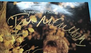 """ECHO & BUNNYMEN / IAN McCULLOUGH - September song SIGNERAD UK-orig 7"""" 1984"""