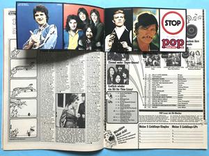 POP - Nr 17 1976 KISS omslag & POPSTICKERS