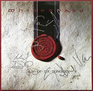 WHITESNAKE - Slip of the tongue SIGNERAD Ger-orig LP 1989