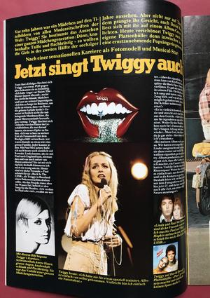 POP - Nr 20 1976 med Status quo-AFFISCH & POP STICKERS!