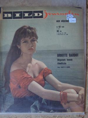 Bildjournalen no 43 1955 Early picture of Brigitte Bardot